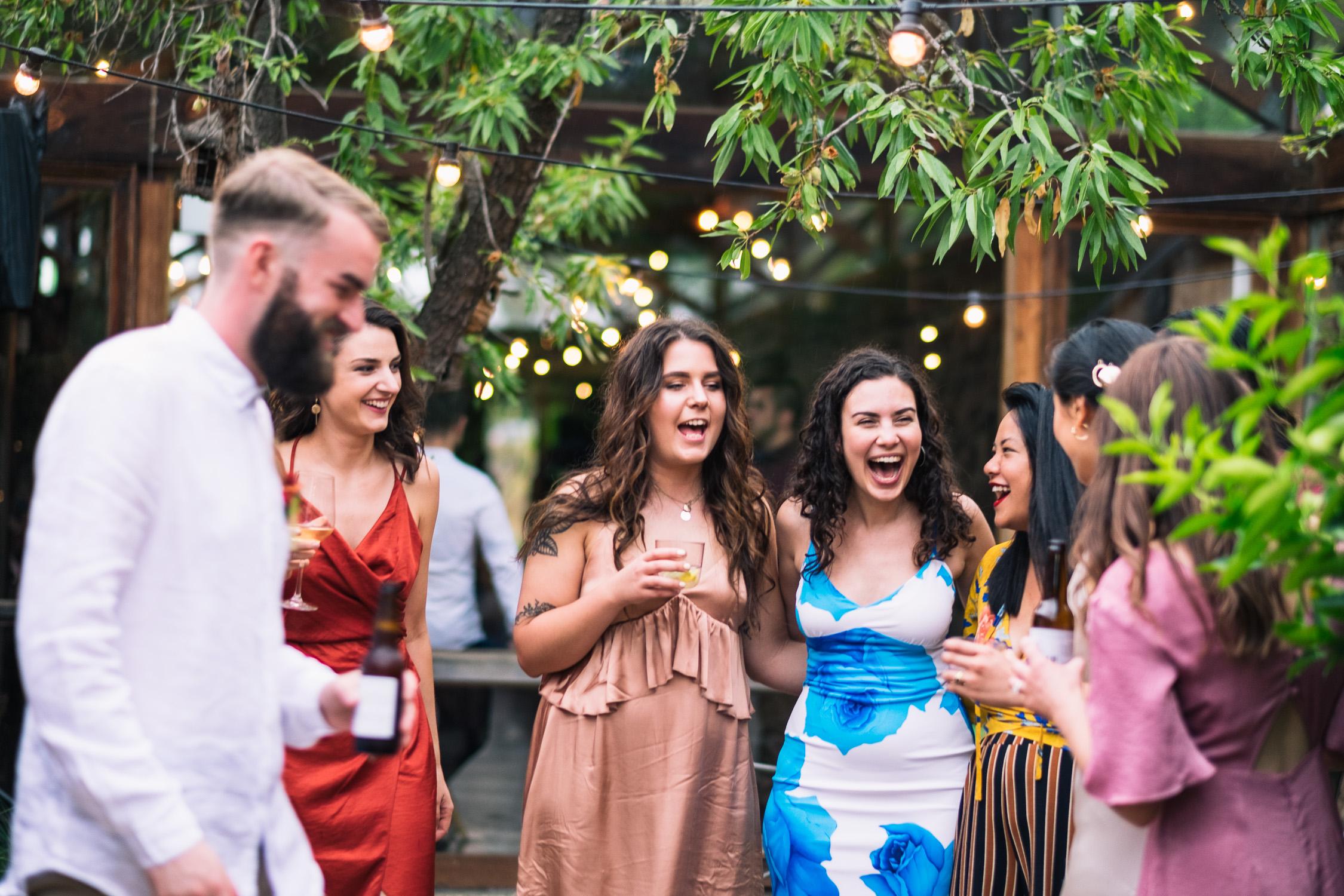 Melbourne Sunnystones Camp Wedding - guests having fun