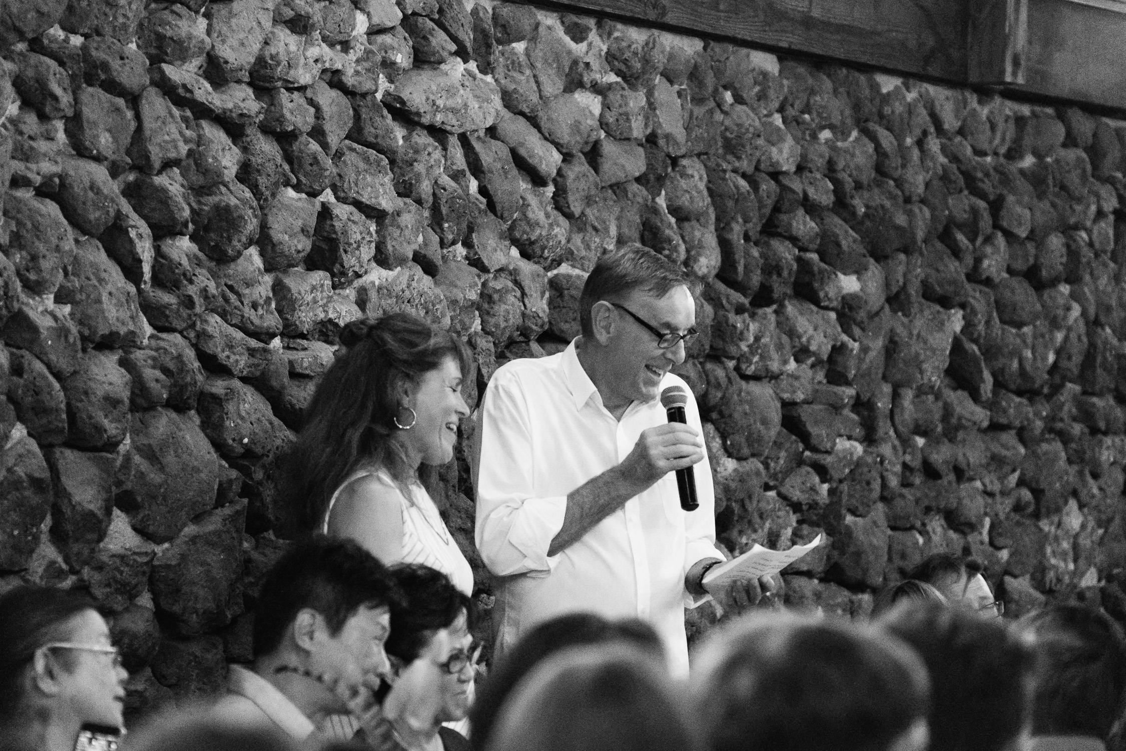 Melbourne Sunnystones Camp Wedding - groom parents speech