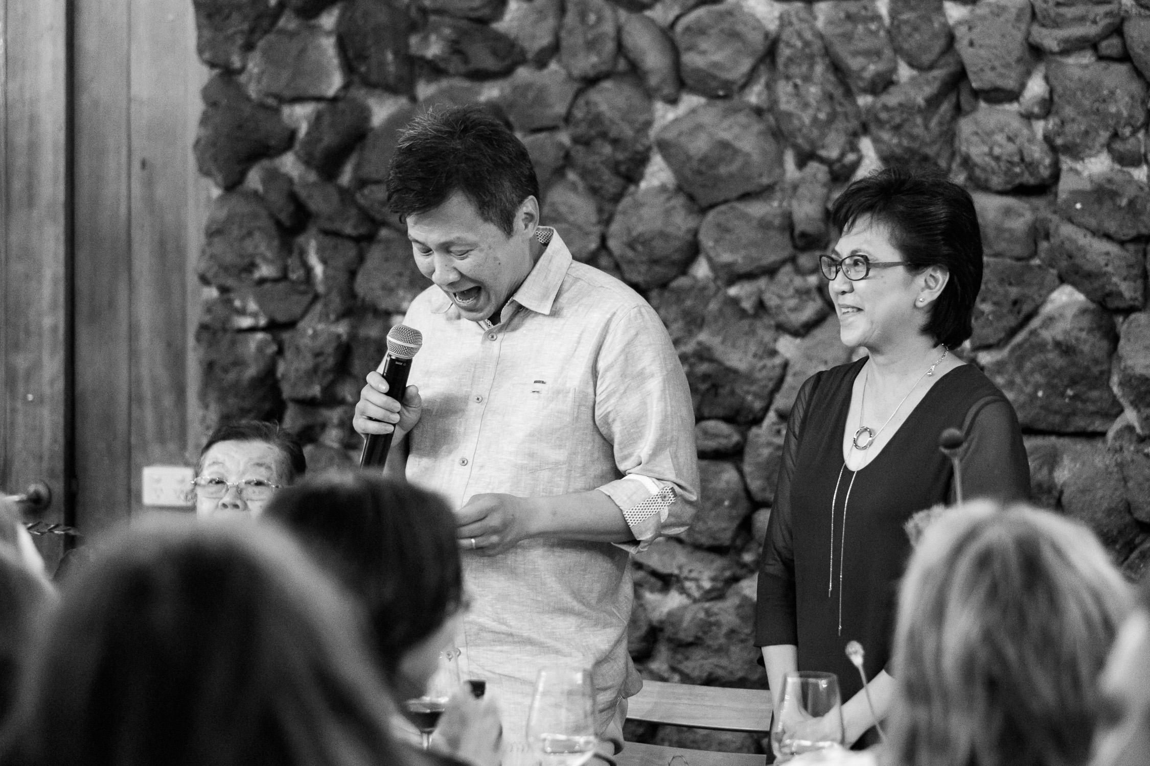 Melbourne Sunnystones Camp Wedding - bride parents speech