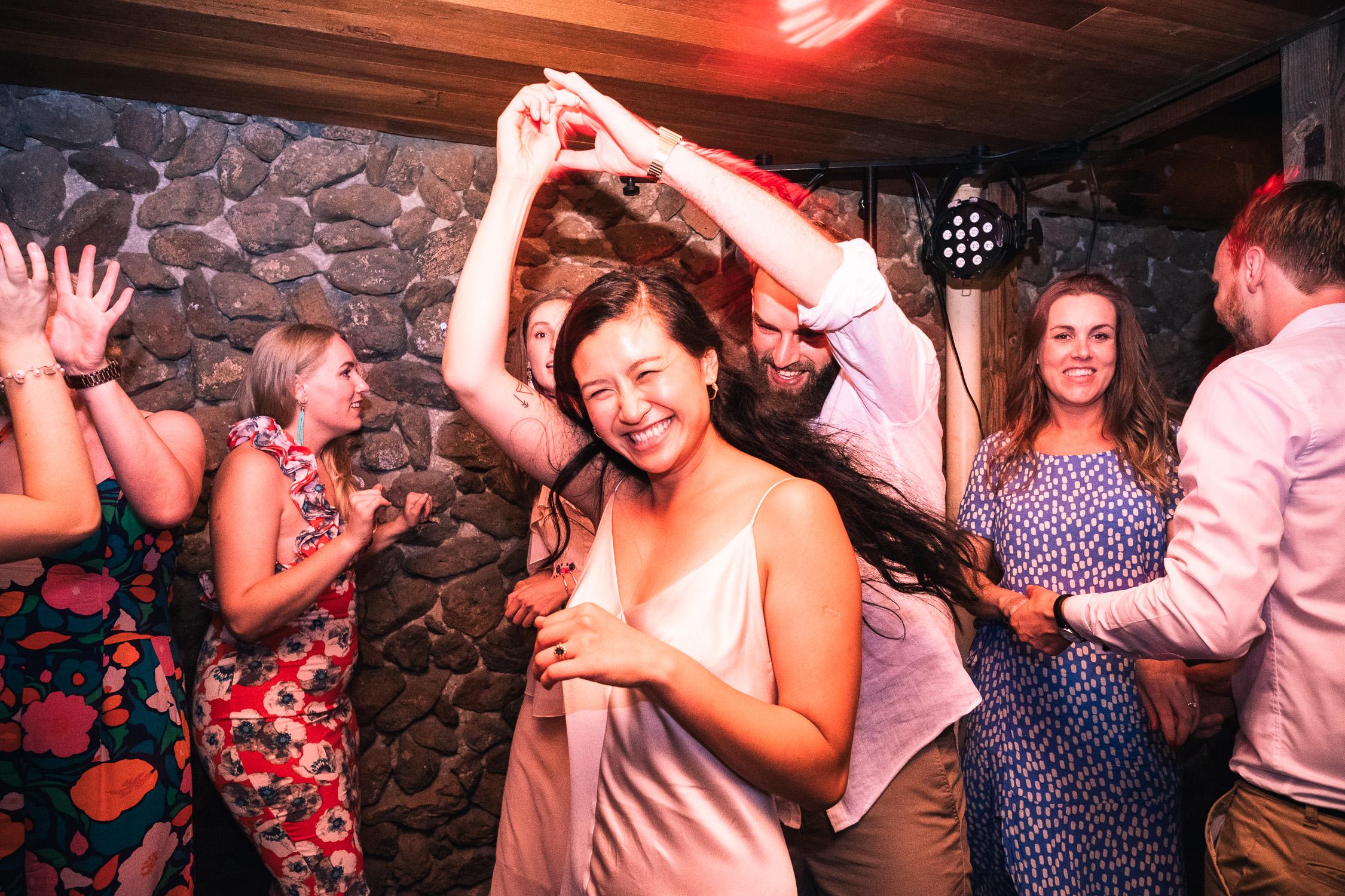 Melbourne Sunnystones Camp Wedding - bride and groom dancing