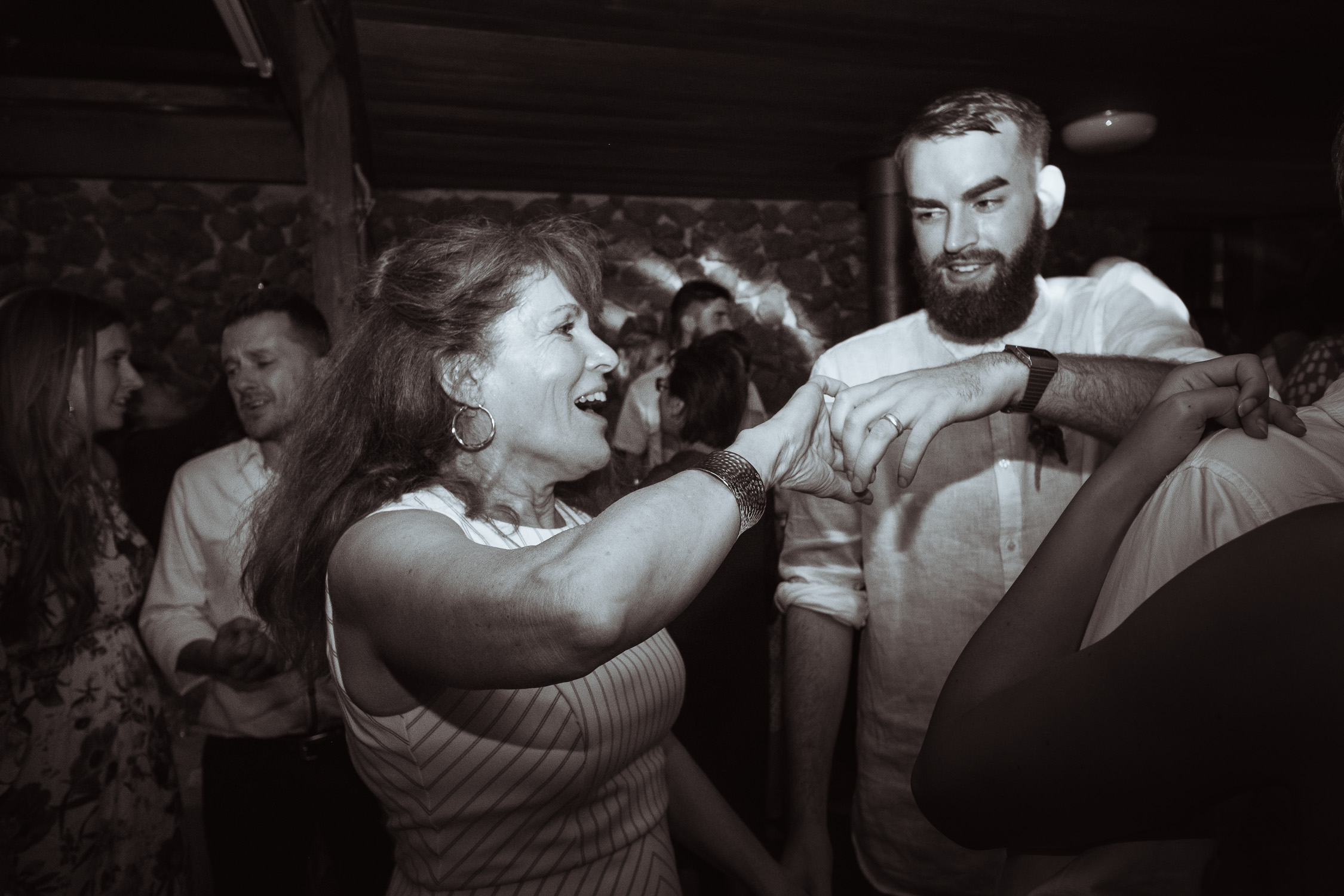 Melbourne Sunnystones Camp Wedding - groom dancing with his mother